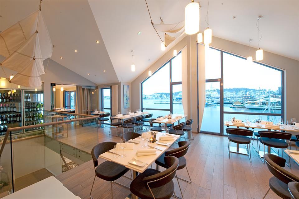 Restaurant med fantastisk utsikt